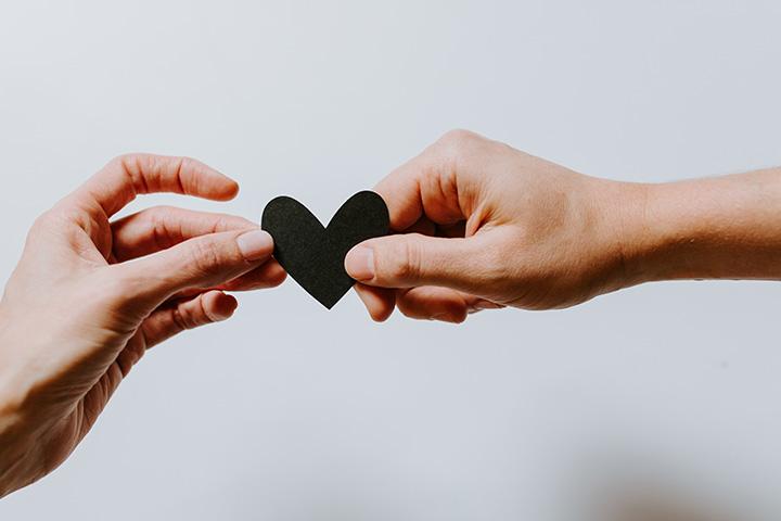 handen met hartje